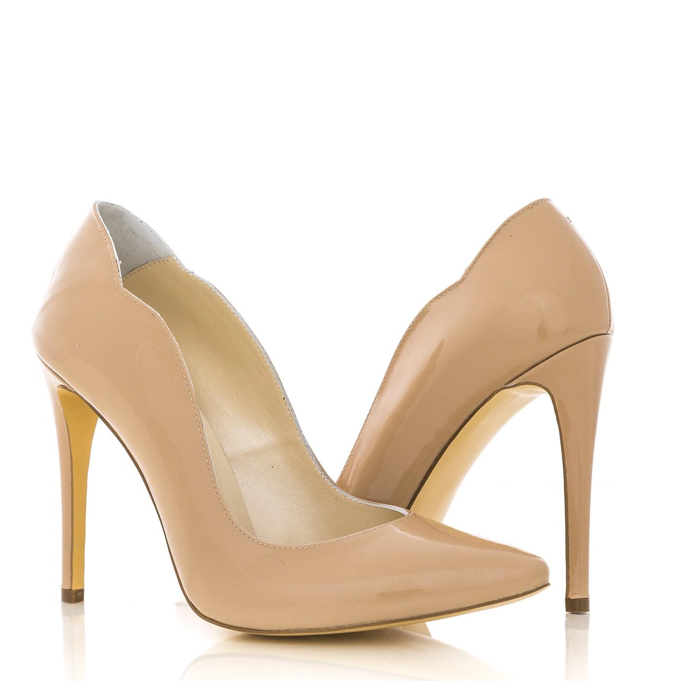 Pantofi stiletto din piele naturala 1501 kiko nude CONDUR