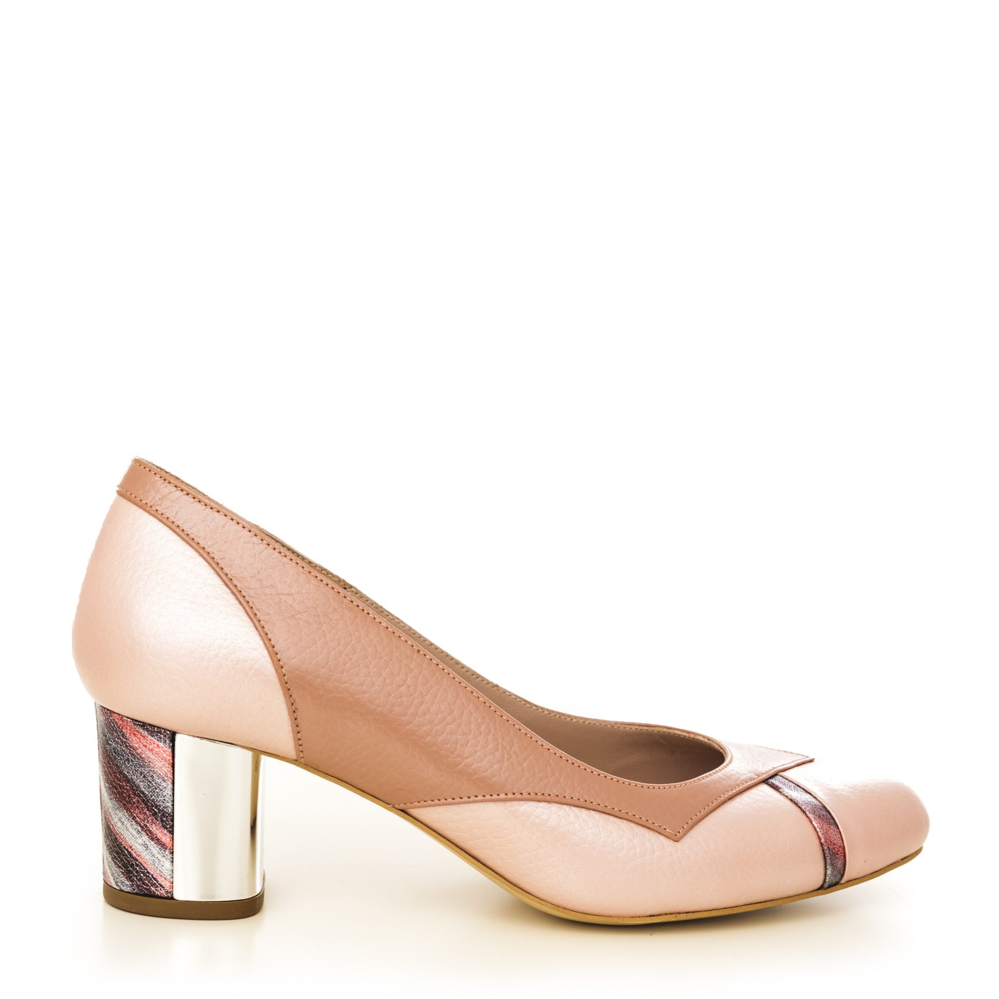 pantofi stiletto din piele naturala 1501 lac nude CONDUR