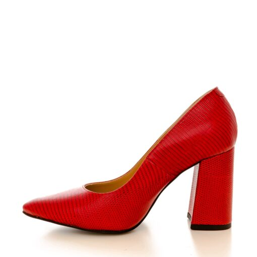 Victoria red leather