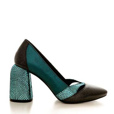 Pantofi dama din piele naturala 1828 turcoaz