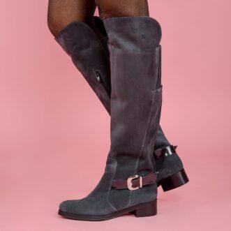 Celeste grey leather