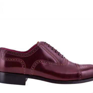 Pantofi oxford 2934 bordo