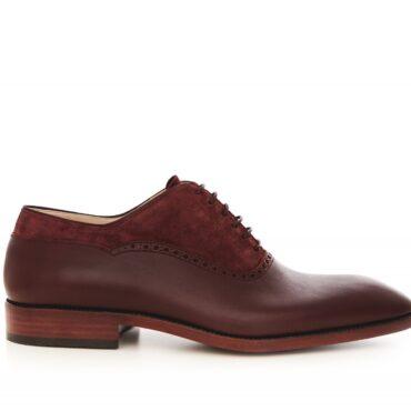 Pantofi oxford 1517 bordo