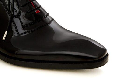Pantofi oxford 15173 lac negru