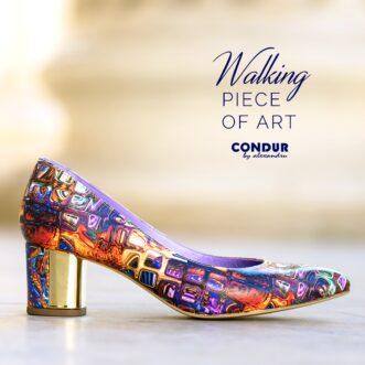 Pantofi dama din piele naturala 1416 gaudi