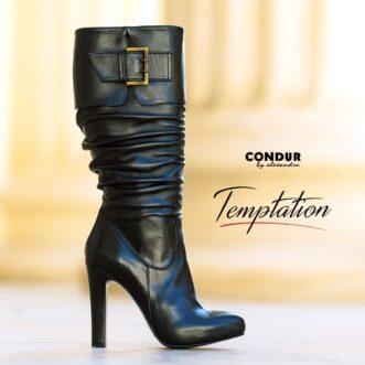 Temptation black leather