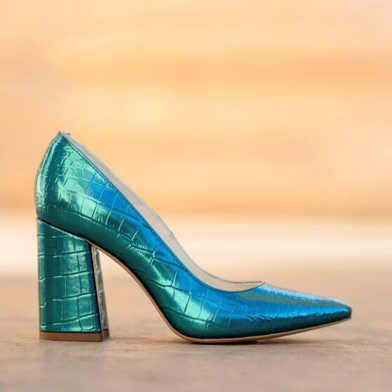 Victoria croco blue turquoise