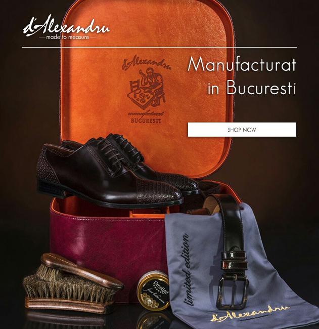 d'Alexandru - Pantofi barbatesti lucrati manuial, made-to-measure • Manufacturat in Bucuresti